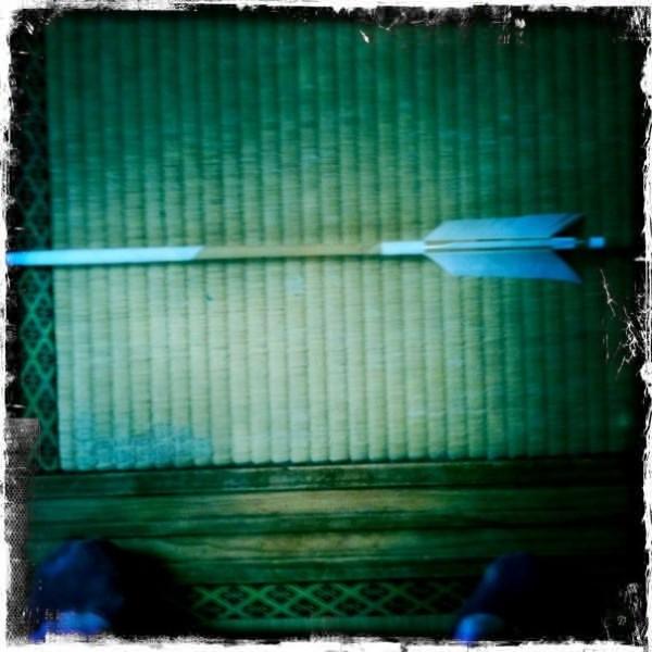 A Japanese hamaya, an arrow, that you might buy at New Year to 'kill' evil spirits