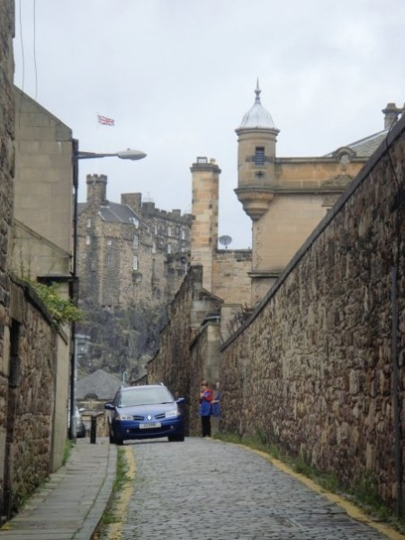 Edinburgh, near the school (the turrets on the right) that Hogwarts is somewhat based on
